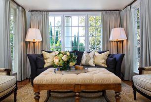 Contemporary Living Room with Laminate floors, Bassett Furniture Custom Kennedy Sofa, Circa lighting octagon floor lamp