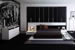 Modern Master Bedroom with Impera Modern-Contemporary lacquer platform bed by Vig Furniture, Impera Dresser by VIG Furniture