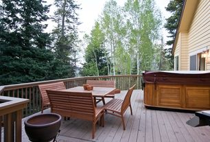 Country Deck with Fire pit, Deck Railing, Casement