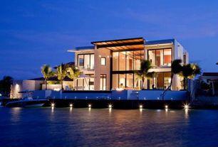 Contemporary Exterior of Home with Exterior spot light fixtures, Exterior pathway lighting