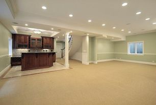 Traditional Basement with Paint 2, Paint 1, Home decorators online roxbury manganite cabinetry