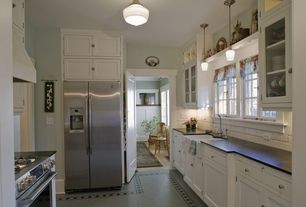 Country Kitchen with Schoolhouse electric - northwestern, Schoolhouse Electric Mercer Pendant, Paint