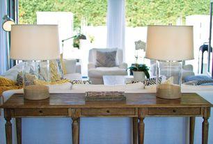 Contemporary Living Room with Z gallerie studio tripod floor lamp, The monogram merchant terrarium lamp