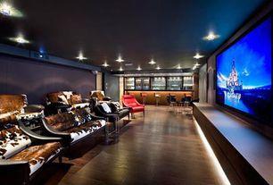 """Contemporary Home Theater with Laminate floors, Acacia dark walnut / 4 7/8"""" / random length, Paint 2"""