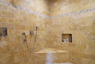 Contemporary Master Bathroom with Powder room, Handheld showerhead