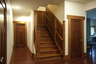 Craftsman Staircase with Chair rail, Laminate floors