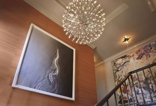 Contemporary Staircase with Moooi Raimond LED light