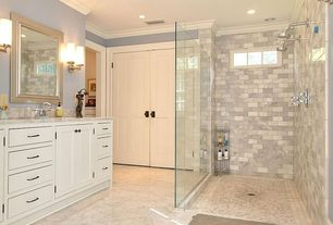 Traditional Master Bathroom with custom shower, dual shower, Shower