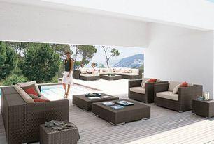 Contemporary Deck with Crate & barrel ventura lounge chair, Crate & barrel ventura bunching table