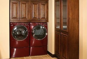Traditional Laundry Room with Bucak light walnut honed filled large versailles pattern 15.93 sf