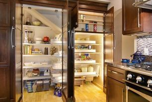 Contemporary Pantry with Tall cabinet doors for built in pantry