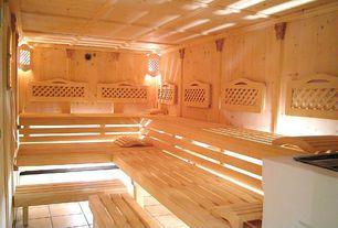 Eclectic Master Bathroom with Sauna