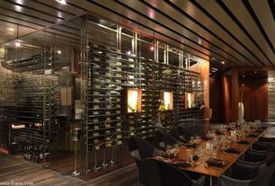 Contemporary Wine Cellar with Custom wine storage, VintageView Floor to Ceiling Wine Racking