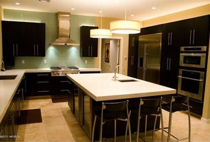 Modern Kitchen with 4 in. UltraCompact Surface Countertop in Zenith