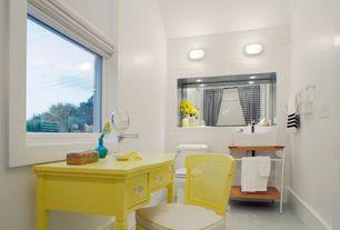 Contemporary Full Bathroom with Paint 1, Daltile - rittenhouse square matte arctic white ceramic wall tile