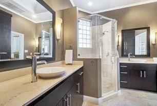 Master Bathroom with Paint, MS International Crema Marfil Select Marble, MS International Jania Cream Limestone