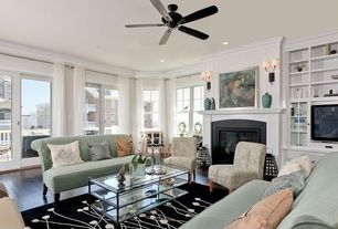 Modern Living Room with Paint, Tanner rectangular coffee table, angelo:HOME Dover Chair - Vintage Sea Foam Blue Floral