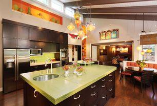 Contemporary Kitchen with Northern Maple - Burnt Cinnamon 5 in. Engineered Hardwood Wide Plank, Apple martini caesarstone