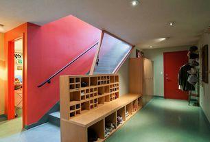 Contemporary Mud Room with Ikea Kallax Shelving Unit, Birch Effect, Ikea Gnedby Shelf Unit, Birch Veneer