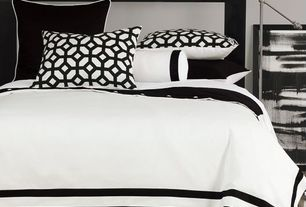 Contemporary Master Bedroom with PALMER STANDARD SHAM, AUTRY WHITE DUVET COVER AND COMFORTER,