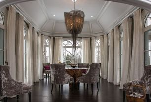 Contemporary Dining Room with Ave six vintage button tufted velvet chair, Atlantis 1000 by hudson furniture