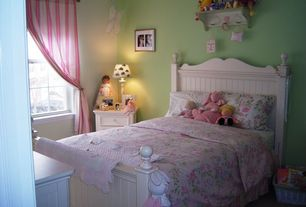 Cottage Kids Bedroom with no bedroom feature, Carpet, double-hung window, Standard height