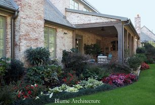Traditional Landscape/Yard with Covered porch, Brick exterior