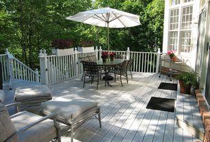Traditional Deck with exterior brick floors, Casement, Deck Railing, Transom window