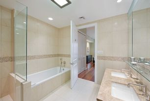 Contemporary Master Bathroom with Undermount sink, Vinyl floors, Master bathroom, Double sink