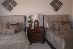 Traditional Guest Bedroom with Carpet, Standard height
