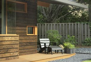 Modern Porch with Pathway, Fence, Screened porch