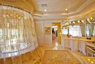 Traditional Powder Room with Powder room, Undermount sink, Frameless mirror, World imports 2-light french gold wall sconce