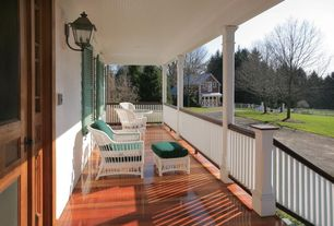 Craftsman Porch with Casement, Glass panel door, double-hung window, Deck Railing, Screened porch