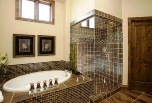 Traditional Master Bathroom with frameless showerdoor, Master bathroom