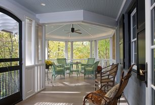 Traditional Porch with Columns, French doors, Wrap around porch, Outdoor seating, Outdoor ceiling fan