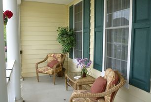 Traditional Porch with Wrap around porch, double-hung window, Deck Railing, exterior stone floors