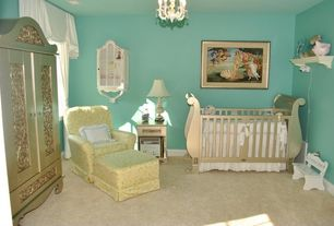 Traditional Kids Bedroom with Nursery classics marlowe rocking chair - ranger twill butter, no bedroom feature, Chandelier