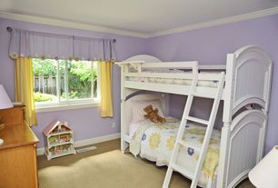Traditional Kids Bedroom with no bedroom feature, Crown molding, Carpet, Standard height, Casement