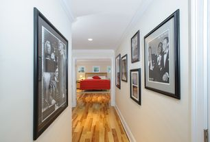 Modern Bedroom with specialty door, Hardwood floors, Evive Designs Rat Pack by Silver Screen Framed Photographic Print