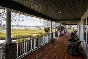 Traditional Porch with Sherwin-Williams Super Deck Finish, Fence, Wrap around porch, Pathway
