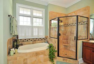 Modern Full Bathroom with Choose Framed Shower Swing Doors Configurations, Simple granite counters, Simple Granite