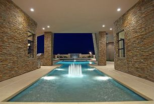 Contemporary Swimming Pool with exterior tile floors, specialty window, exterior concrete tile floors, Other Pool Type