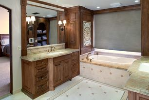 Traditional Master Bathroom with Undermount sink, Master bathroom, Soapstone, flush light, Complex granite counters