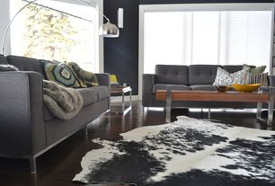 Contemporary Living Room with Room & Board Sabine Sofa, Room & Board Arco Floor Lamp, Wall sconce, Hardwood floors