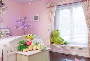 Traditional Kids Bedroom with Built-in bookshelf, Ceiling fan, Standard height, no bedroom feature, Window seat, Casement