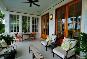 Traditional Porch with Wrap around porch, Screened porch, French doors, Glass panel door