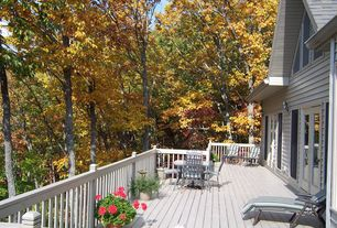 Traditional Deck with French doors, Deck Railing