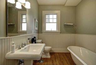 "Cottage Full Bathroom with American Standard 8040.300.002 Prairie Field 24"" Towel Bar with Towel Shelf, Clawfoot"