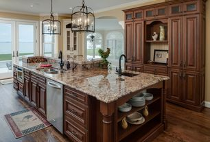Traditional Kitchen with Arizona tile - bianco antico granite, Armstrong Flooring - Oak in Saddle
