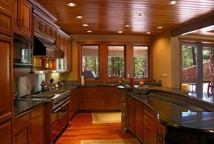 Traditional Kitchen with Stainless Steel, Undermount sink, L-shaped, Mohawk Fairview Butterscotch Laminate Flooring